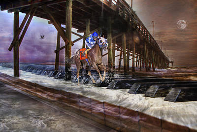 Race Horse Digital Art - Symphony Keys by Betsy Knapp