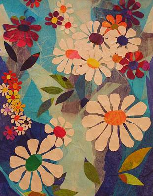 Art Print featuring the mixed media Symphony Of Flowers by Diane Miller