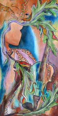 Symphony Of Leaves Art Print