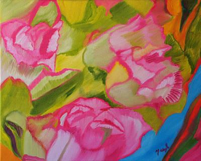 Symphony Of Roses Art Print