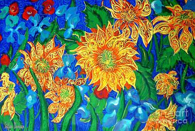Symphony Of Sunflowers Art Print