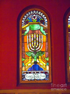 Photograph - Synagogue Window by Brenda Kean