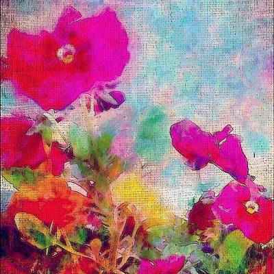 Flower Wall Art - Photograph - synchronicity... #digitalart With by Robin Mead