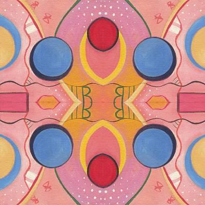 Synchronicity - The Joy Of Design X V I I Arrangement Art Print by Helena Tiainen