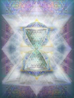 Synthesphered Chalice Fifouray Star On Tapestry Art Print by Christopher Pringer