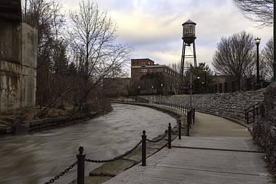 Franklin Photograph - Syracuse Creekwalk by Everet Regal