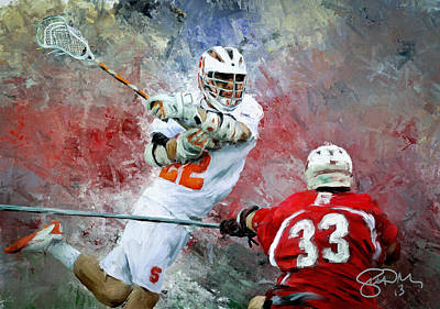 Scott Melby Painting - College Lacrosse 5 by Scott Melby