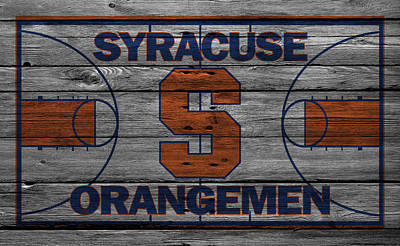 Syracuse Orangemen Art Print by Joe Hamilton
