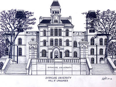 Drawing - Syracuse University by Frederic Kohli