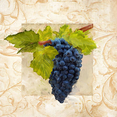 Chardonnay Wine Painting - Syrah II by Lourry Legarde