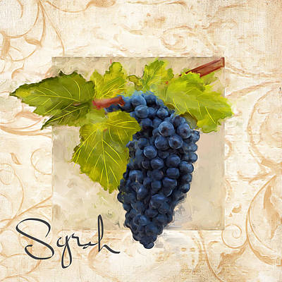 Chardonnay Wine Painting - Syrah by Lourry Legarde