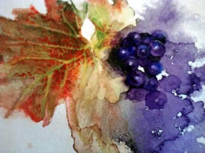 Grapeleaves Painting - Syrah by Susan Richardson-Kaumans