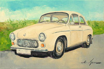 Syrena 105 - Polish Car Art Print