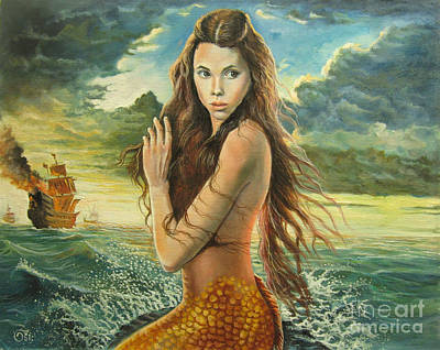 Pirates Of The Caribbean Painting - Syrena From Pirates Of The Caribbean by Osi