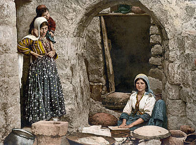 Syria Painting - Syria Bread-making, C1895 by Granger