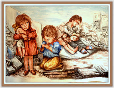 Painting - Syrian Children  by Patricia Rachidi