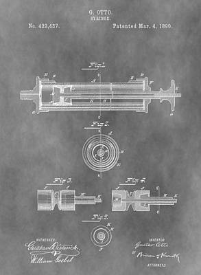 Mixed Media - Syringe Patent Design by Dan Sproul