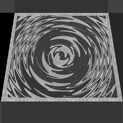 Painting - Systemic Chaos Rights Managed Images For Download Bnw Black N White Abstract Wave Art Title  Systemi by Navin Joshi