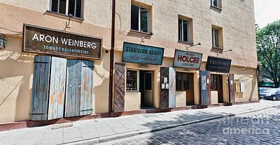 Szeroka Street Pre-war Street Museum On Kazimierz The Old Jewish Art Print