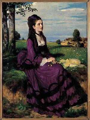 Szinyei Merse Pal, Portrait Of A Woman Art Print by Everett