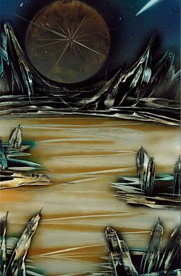Painting - Lunar Moon by Jason Girard