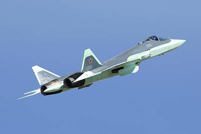 T-50 Photograph - T-50 Pak-fa Russian Jet Fighter Taking by Artyom Anikeev