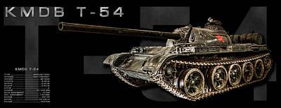 Photograph - T-54 Soviet Tank Bk-bg 2 by Weston Westmoreland