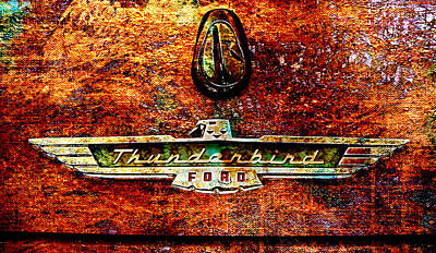 Photograph - T-bird Grunge by Greg Sharpe