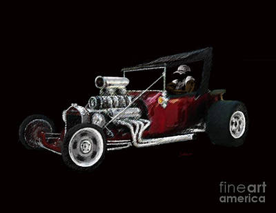 Model T Ford Painting - T Bucket by Steve Knapp