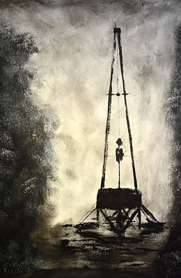 Oil Rig Painting - T. D. by Shawn Marlow
