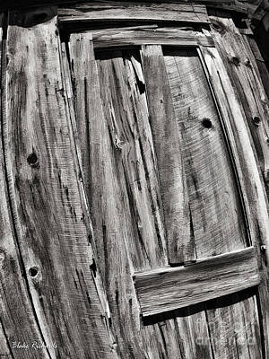 Photograph - T Door Black And White by Blake Richards