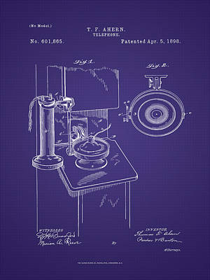 Photograph - T. F. Ahearn Telephone Patent by Barry Jones