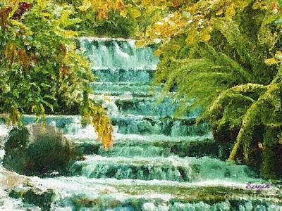 Eco-tourism Painting - T Falls by Sergio B
