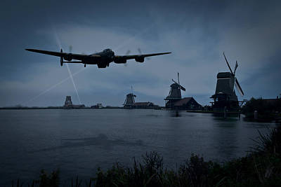 Dambusters Lancaster T For Tommy En Route To The Sorpe Art Print by Gary Eason