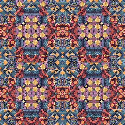 Surrealism Royalty Free Images - T J O D Mandala Series Puzzle 5 Arrangement 2 Compilation Royalty-Free Image by Helena Tiainen