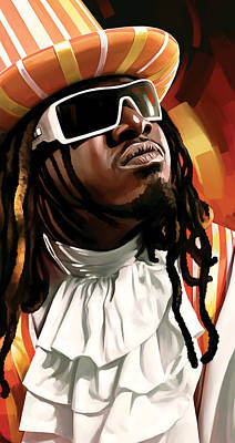 Rap Painting - T-pain Artwork by Sheraz A