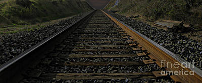 Art Print featuring the photograph T Rails by Janice Westerberg