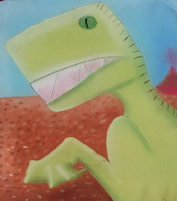 Pastel - Dinoart Reptillian  by Joshua Maddison