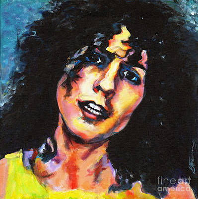 Marc Bolan Painting - T. Rex Marc Bolan. Cosmic Dancer by Tanya Filichkin