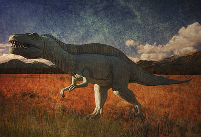 Digital Art - T Rex On The Prarie by Sandra Selle Rodriguez