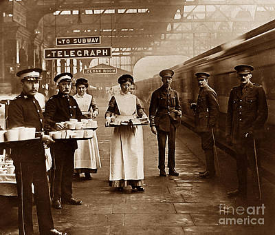 The Red Cross And St. John's Ambulance Brigade During Ww1 England Art Print by The Keasbury-Gordon Photograph Archive