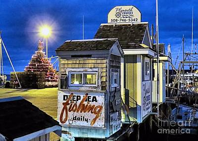 T Wharf Plymouth Massachusetts  Art Print