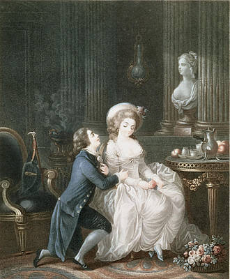 Potted Drawing - T.2342 Lamant Ecoute, 1775 by Louis Marin Bonnet