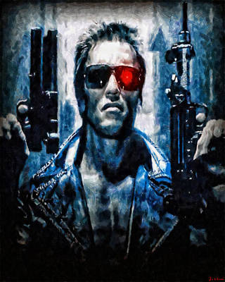 Painting - T800 Terminator by Joe Misrasi