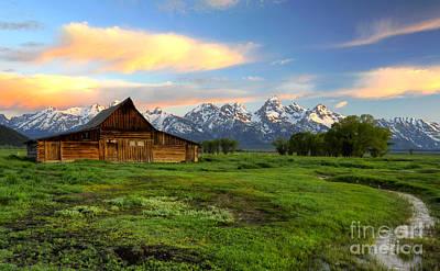Photograph - Ta Moulton Barn At Sunrise by Deby Dixon
