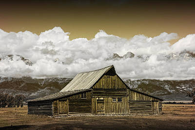 Brown Tones Photograph - T.a. Moulton Barn In The Grand Tetons by Randall Nyhof
