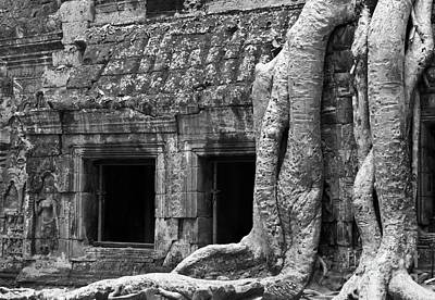 Photograph - Ta Prohm Roots And Stone 02 by Rick Piper Photography