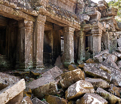Photograph - Ta Prohm Temple 04 by Rick Piper Photography