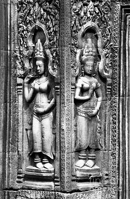 Photograph - Ta Prohm Temple Devatas by Rick Piper Photography