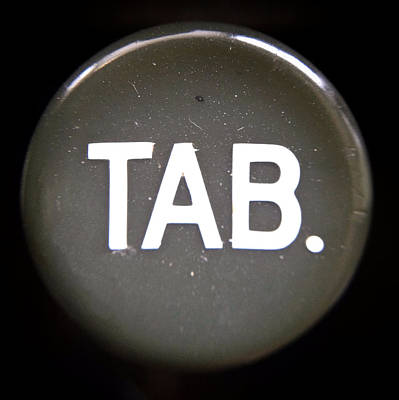 Typewriter Keys Photograph - Tab. by Natasha Marco